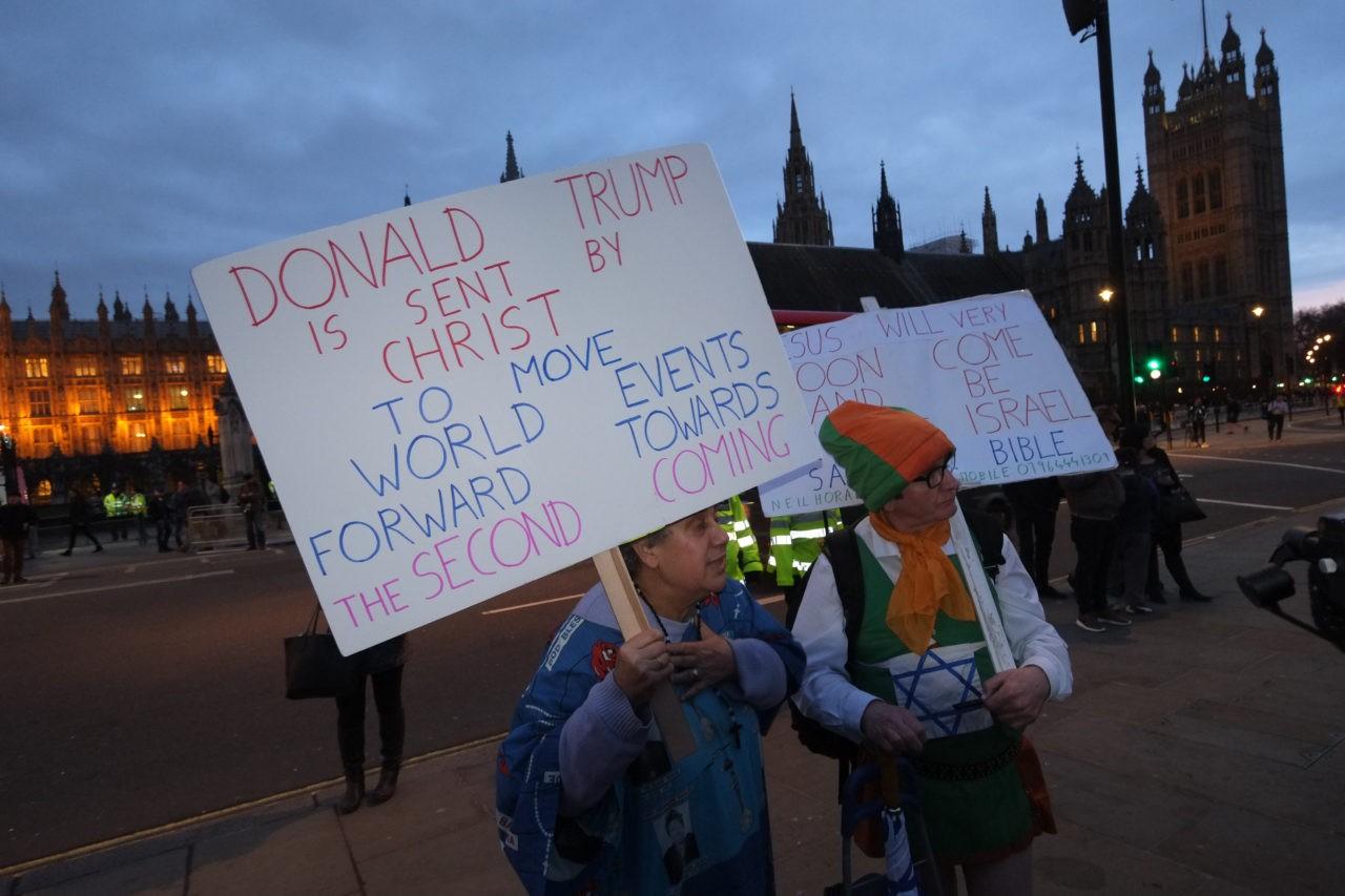 No to Trump protest