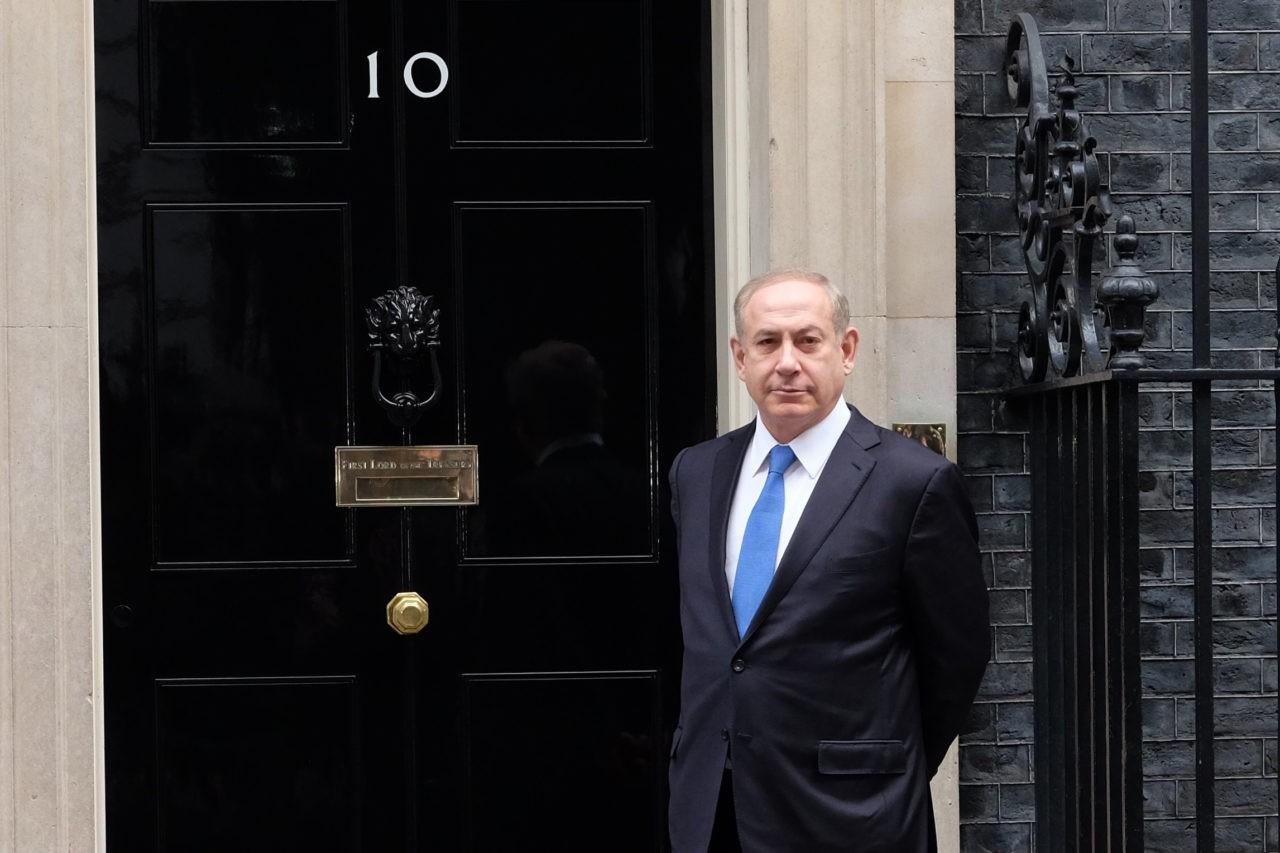 Netenyahu visits Downing St London