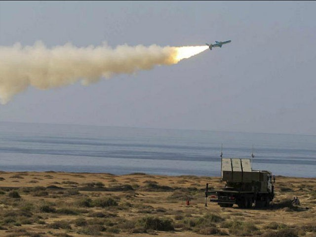 In this picture released by Iranian Fars News Agency, on Monday, Jan. 2, 2012, a Ghader missile is launched at the shore of sea of Oman during Iran's navy drill. Iran test-fired a surface-to-surface cruise missile on Monday during a drill that the country's navy chief said proved Tehran was …