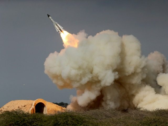 In this Dec. 29, 2016 file photo, released by the semi-official Iranian Students News Agency (ISNA), a long-range S-200 missile is fired in a military drill in the port city of Bushehr, on the northern coast of Persian Gulf, Iran. President Donald Trump's national security adviser, Michael Flynn, has said …