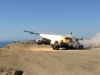 A Ghader missile is launched from the area near the Iranian port of Jask port on the shore of the Gulf of Oman during an Iranian navy drill, Tuesday, Jan. 1, 2013. Iran says it has tested advanced anti-ship missiles in the final day of a naval drill near the …