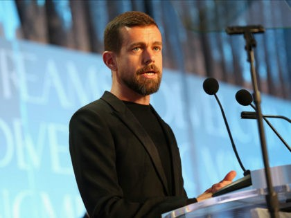WASHINGTON, DC - NOVEMBER 21: CEO of Twitter and Square Jack Dorsey accepts the award for CEO of the Year onstage during the Thurgood Marshall College Fund 28th Annual Awards Gala at Washington Hilton on November 21, 2016 in Washington, DC. (Photo by Teresa Kroeger/Getty Images for Thurgood Marshall College …