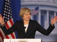 British Prime Minister Theresa May speaks at the Congress of Tomorrow Republican Member Retreat at Loews Philadelphia Hotel on January 26, 2017 in Philadelphia, Pennsylvania. British Prime Minister Theresa May is on a two-day visit to the United States and will be the first world leader to meet with President …