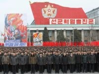 A Pyongyang city mass rally took place to vow to carry through the tasks set forth by respected Supreme Leader Kim Jong Un in his New Year address at Kim Il Sung Square in Pyongyang, DPRK, on Thursday, January 5th, 2017. (AP Photo/Jon Chol Jin)