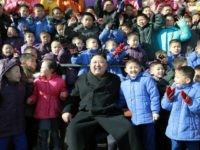 This undated picture released by North Korean news agency, KCNA (Korean Central News Agency) on February 2, 2017 shows North Korean leader Kim Jong-Un (front C) posing with the school students while visiting newly built Pyongyang Orphans' Primary School. REPUBLIC OF KOREA OUT ---EDITORS NOTE--- RESTRICTED TO EDITORIAL USE - …