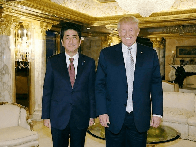 Japanese Prime Minister Shinzo Abe on November 18, 2016 became the first foreign leader to meet the US President-Elect Donald Trump