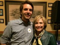 Image of Jimmy Dahman, founder of The Town Hall Project, with Hillary Clinton, from his Facebook page