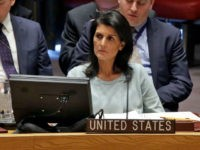 The new U.S. Ambassador to the U.N. Nikki Haley, listens to proceedings during a Security Council meeting of the United Nations, Thursday, Feb. 2, 2017. U.S. Deputy Permanent Representative Michele Sison is at center. (AP Photo/Richard Drew)