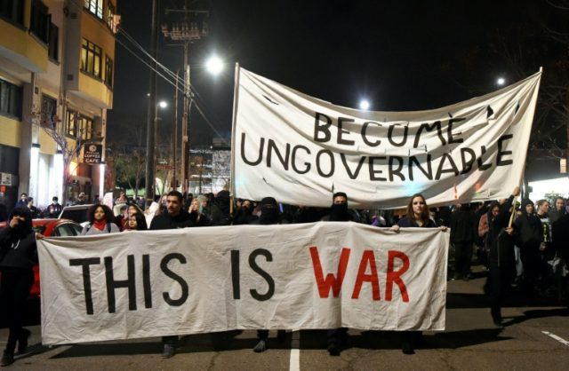Violent protests erupted at the University of California at Berkeley Wednesday over the scheduled appearance of a controversial editor of the conservative news website Breitbart