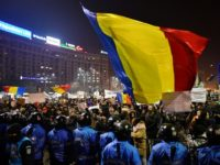 Romanian riot police during a demonstration against controversial decrees to pardon corrupt politicians and decriminalise other offenses on February 1, 2017