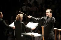 Andris Nelsons, music director of the Boston Symphony Orchestra, conducts at Tanglewood, the orchestra's summer retreat in the Berkshires near Lenox, Massachusetts