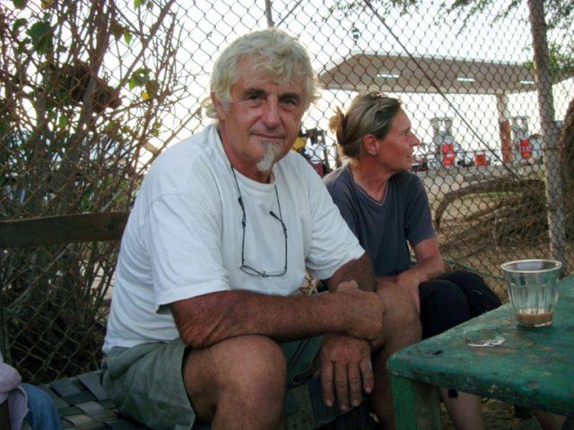 German nationals Jurgen Kantner and his wife Sabine Merz pictured in Berbera, Somalia on May 5, 2009