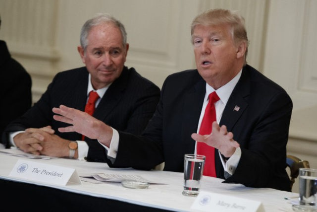 Donald Trump, Stephen Schwarzman,