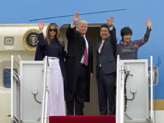 Donald Trump, Shinzo Abe, Akie Abe, Melania Trump