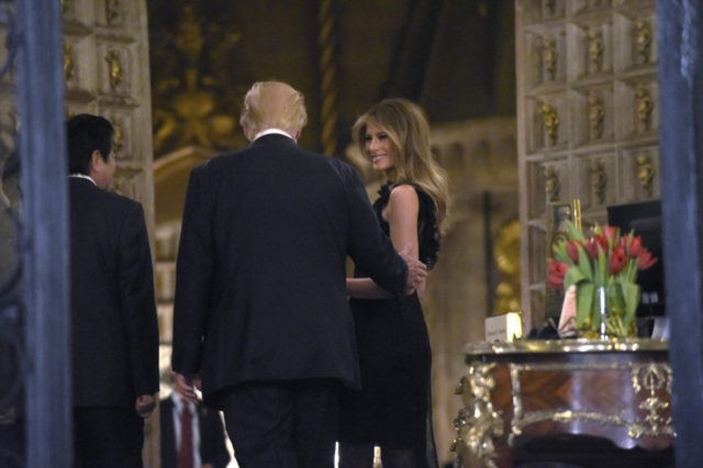 Donald Trump, Melania Trump, Shinzo Abe