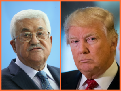 Palestinian President Mahmoud Abbas speaks to the media with German Chancellor Angela Merkel (not pictured) following talks at the Chancellery on April 19, 2016 in Berlin, Germany. /President-elect Donald Trump looks on as French businessman Bernard Arnault, chief executive officer of LVMH, speak to reporters at Trump Tower, January 9, …