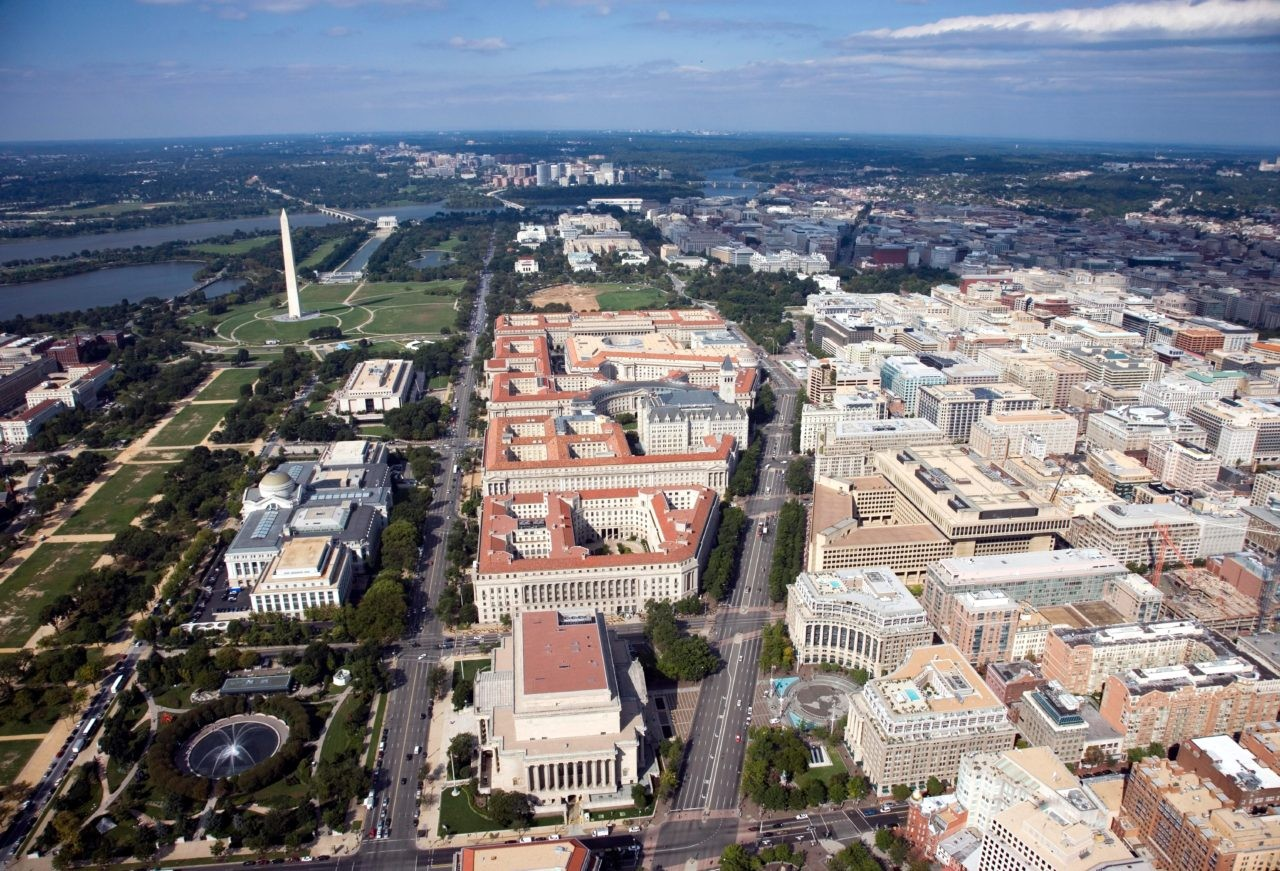 Federal Triangle, facing west (Source: Wikimedia Commons)
