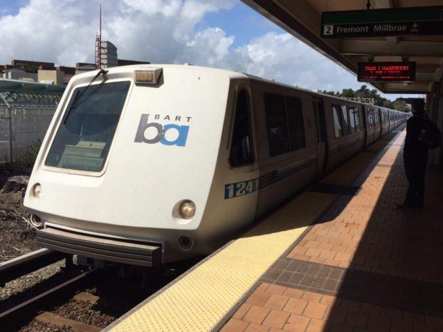 BART train (Joel Pollak / Breitbart News)
