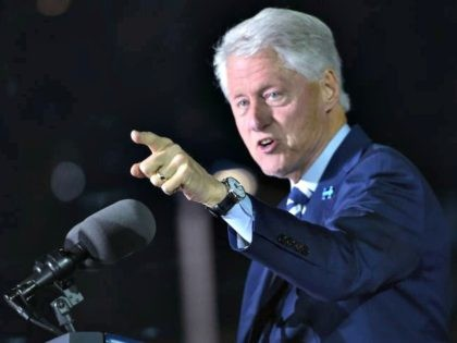 Bill Clinton pointing