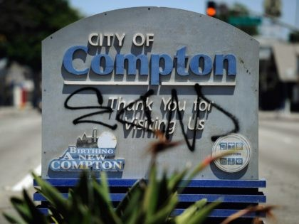 Compton graffiti (Kevork Djansezian / Getty)