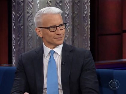 """Anderson Cooper on 3/6/17 """"The Late Show"""""""