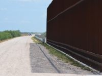 Border Fence in South Texas - Hidalgo County