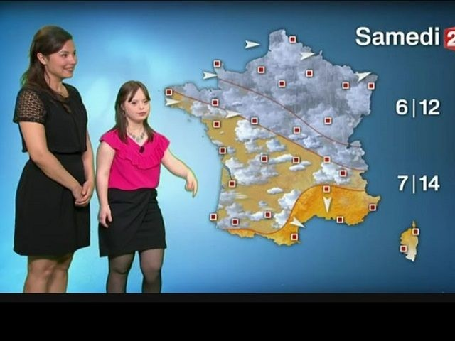 Young Woman with Down Syndrome Reports Weather on French TV
