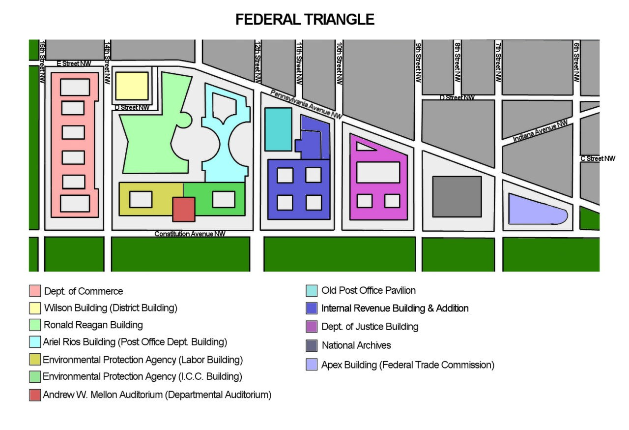 The Federal Triangle (Source: Wikimedia Commons)