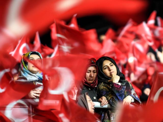 Erdogan Rally Turkey