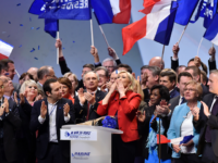 With Month Until Vote, Populist Leader Marine Le Pen Addresses Thousands at Lille Rally