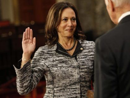 Kamala Harris swearing in (Aaron P. Bernstein / Getty)