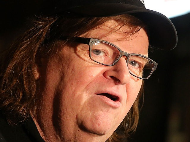 NEW YORK, NY - OCTOBER 18: Director Michael Moore speaks to the media at the premiere of his documentary 'Michael Moore In TrumpLand' at the IFC Center on October 18, 2016 in New York City. Free tickets to the premiere were distributed at the box office on a first-come-first-serve basis, then the film is expected to play in Los Angeles and New York City over the weekend and be available digitally via iTunes. (Photo by Jemal Countess/Getty Images)