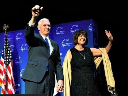 U.S. Vice President Mike Pence speaks during the Republican Jewish Coalition's annual leadership meeting at The Venetian Las Vegas on February 24, 2017 in Las Vegas, Nevada. Pence's speech to the group of Republican Jewish leaders and donors follows his trip last week to Germany where he visited the former …