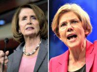 Nancy Pelosi (L) and Elizabeth-Warren