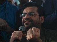In this August 23, 2016 file photo, Pakistani TV host Amir Liaquat addresses a gathering in Karachi, Pakistan. Pakistan's media watchdog has imposed a fine and sought an on-air and written apology from a radical Islamic preacher-turned TV host for accusing five bloggers and human right activists of committing blasphemy in his show in January. (AP Photo/Shakil Adil, File)