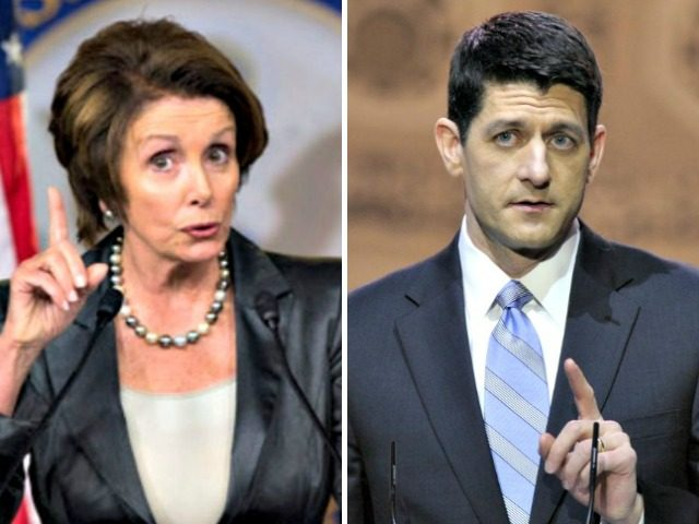 Pelosi and Paul Ryan AP