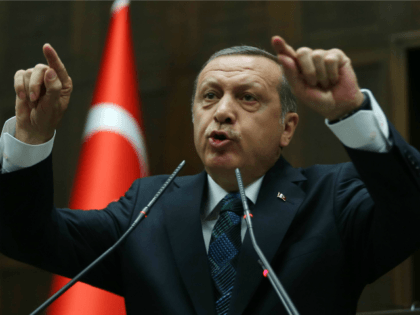 Turkey's Prime Minister Recep Tayyip Erdogan addresses members of his ruling AK Party (AKP) during a meeting at the Turkish Parliament in Ankara on June 17, 2014.