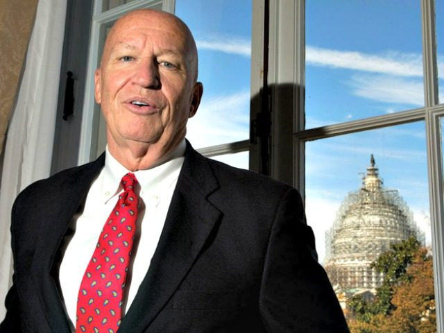 In this Nov. 6, 2015, photo, Rep. Kevin Brady, R-Texas, the new chairman of the House Ways and Means Committee, poses for a photo during an interview with The Associated Press in his office on Capitol Hill in Washington. The House's newest and perhaps most powerful committee chairman is a …