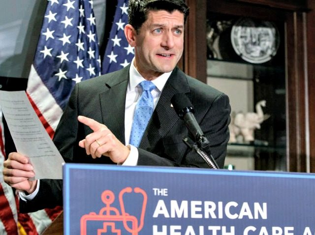Speaker of the House Paul Ryan, R-Wis., faces reporters as the GOP works on its long-awaited plan to repeal and replace the Affordable Care Act, during a news conference at Republican National Committee Headquarters on Capitol Hill in Washington, Wednesday, March 8, 2017. (AP Photo/J. Scott Applewhite) Speaker of the …