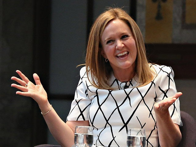 NEW YORK, NY - APRIL 13: TV personality Samantha Bee, writer Adam Gopnik, writer Hilton Als and writer David Remnick speak during the New York Public Library Lunch 2016: A New York State of Mind at The New York Public Library - Stephen A. Schwarzman Building on April 13, 2016 …