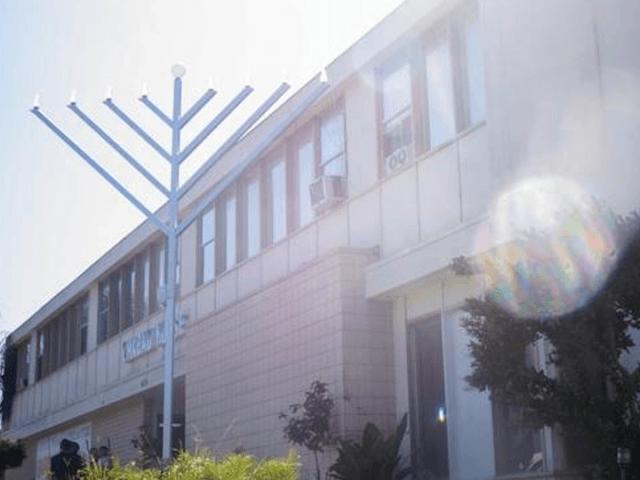 SDSU Chabad House menorah (Facebook)