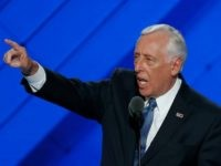 Rep. Steny Hoyer, D-Md., speaks during the first day of the Democratic National Convention in Philadelphia , Monday, July 25, 2016. (AP Photo/J. Scott Applewhite)