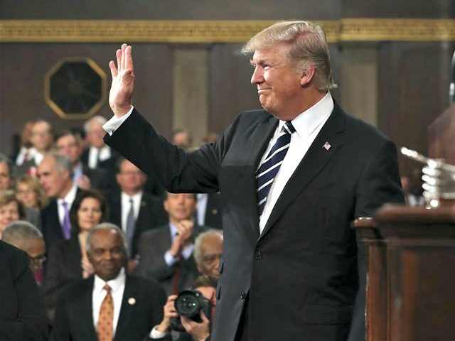Trump After Speech AP