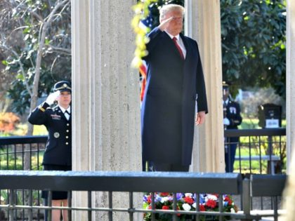 Trump Honors Andrew Jackson AFP