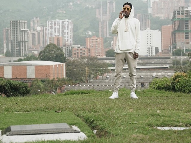 Rapper Wiz Khalifa Places Flowers on Grave of Mass-Murdering Drug Lord Pablo Escobar