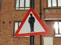 beware of jews sign