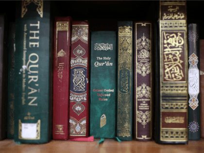 Copies of the Quran are shown on the shelf of the Dar Al-Hijrah Islamic Center mosque during a town hall meeting with Virginia Attorney General Mark Herring March 17, 2017 in Falls Church, Virginia. The town hall, sponsored by the Council on American-Islamic Relations, was held following U.S. President Donald …