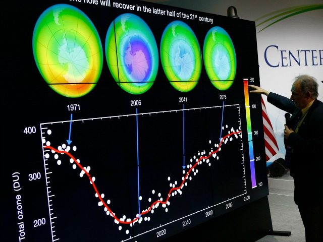 U.S. Associate Director for Research of the Earth Science Division (ESD) within NASA's Science Mission Directorate (SMD) Jack Kaye delivers a conference about evolution of the Ozone hole on the Antarctic at the U.S. Pavillon during the COP21, United Nations Climate Change Conference, in Le Bourget, outside Paris, Tuesday, Dec. …