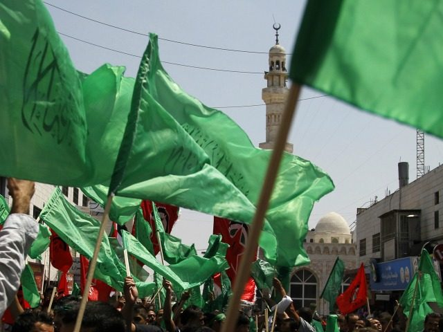Palestinian supporters of Islamist movement Hamas attend a rally in the West Bank city of Ramallah to support people in the Gaza Strip and against Egypt's policy on Gaza, which Hamas says favours Israel, on August 15, 2014. Unlike his Islamist predecessor Mohamed Morsi whom he toppled and detained last …