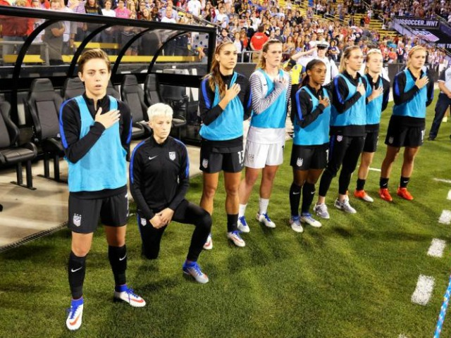 Megan Rapinoe: I Was 'Naive' to Think Americans Would Approve Anthem Protest Because I'm 'Non-Threatening' White Woman | Breitbart